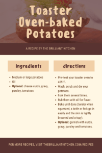How to Bake Potatoes in a Toaster Oven 1
