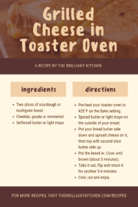 How to Make Grilled Cheese in a Toaster Oven 1