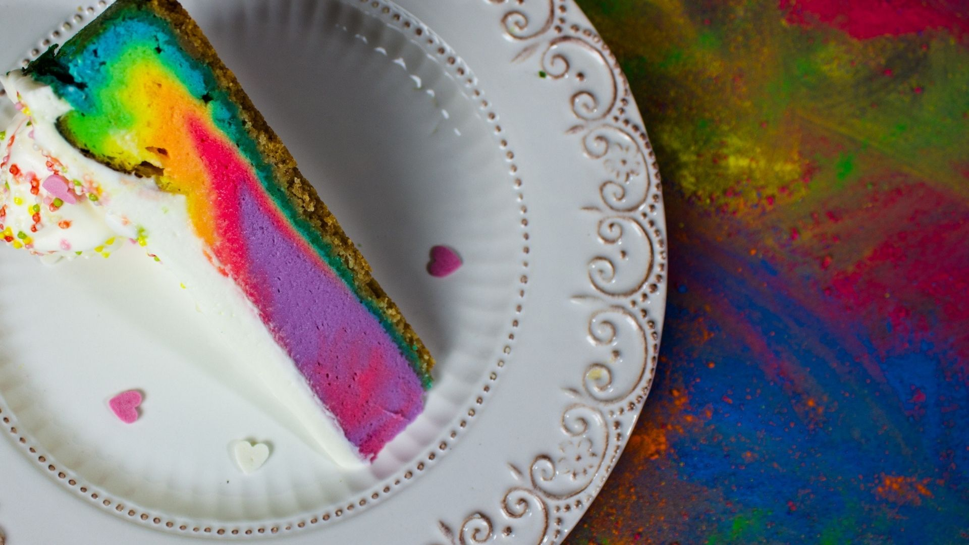 Featured image for Rainbow Cheesecake in a Toaster Oven Recipe