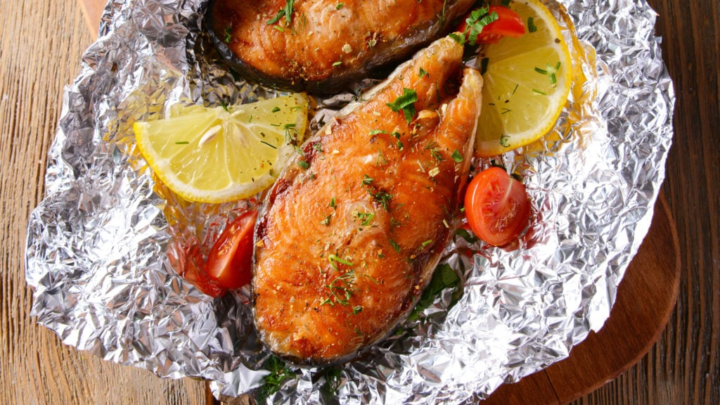Toaster oven baked fish