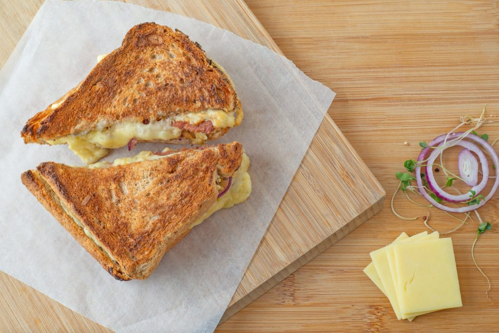 Toaster Oven Grilled Cheese Sandwich Melt