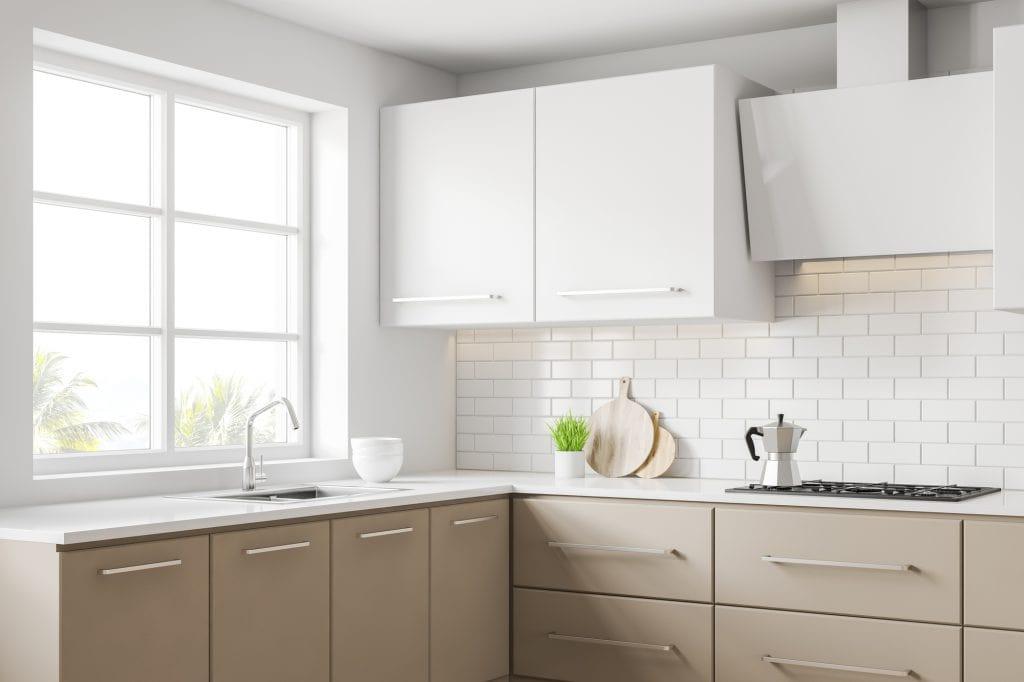 Clean minimalist kitchen