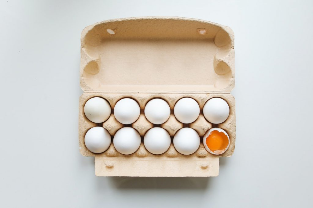 Egg carton to be reused or recycled