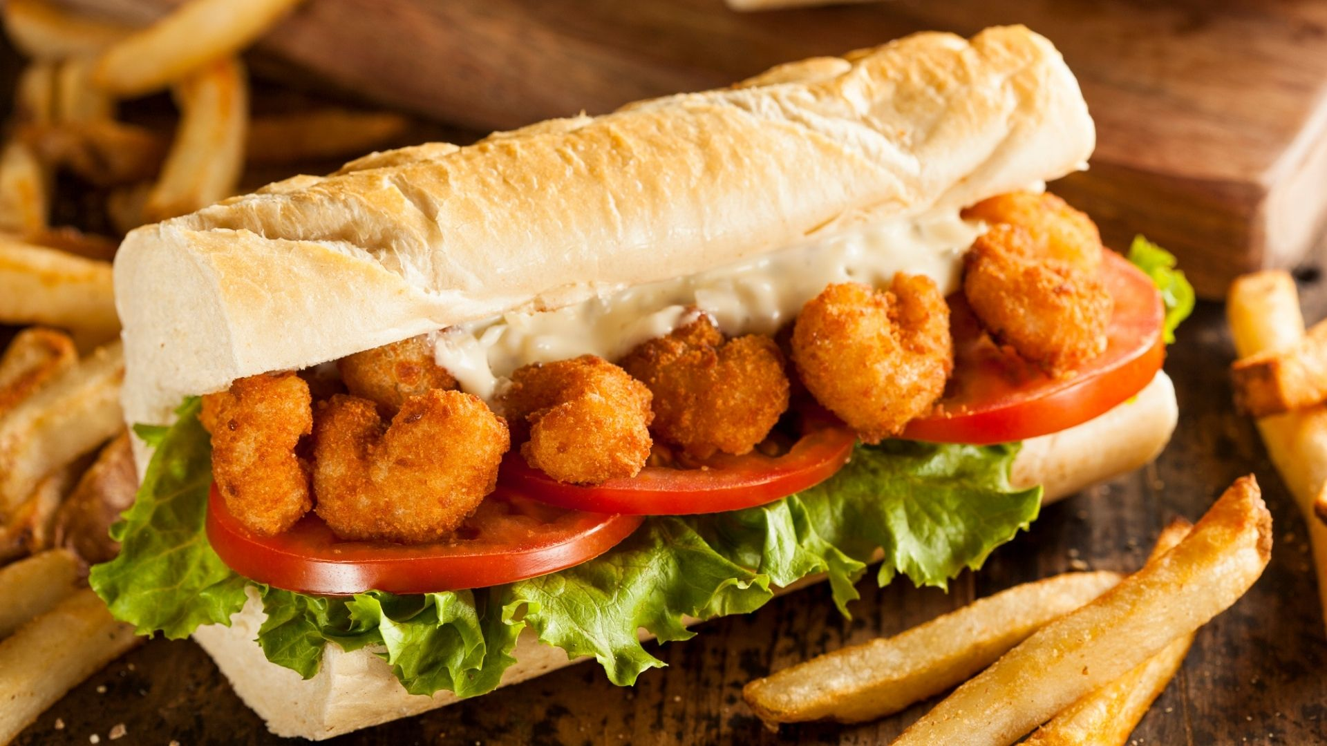 Featured Image for Shrimp Poboy Sandwich