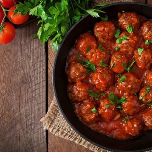 Barbecue Meatballs from a Toaster Oven