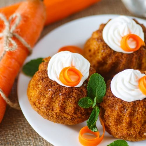 Carrot Muffins Baked in a Toaster Oven