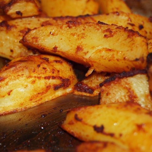 Fried Potatoes Baked in a Toaster Oven
