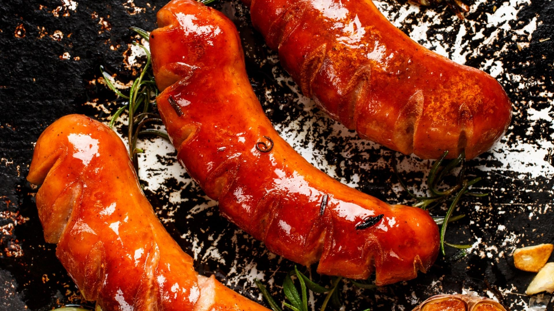 Oktoberfest Sausages Roasted in a Toaster Oven