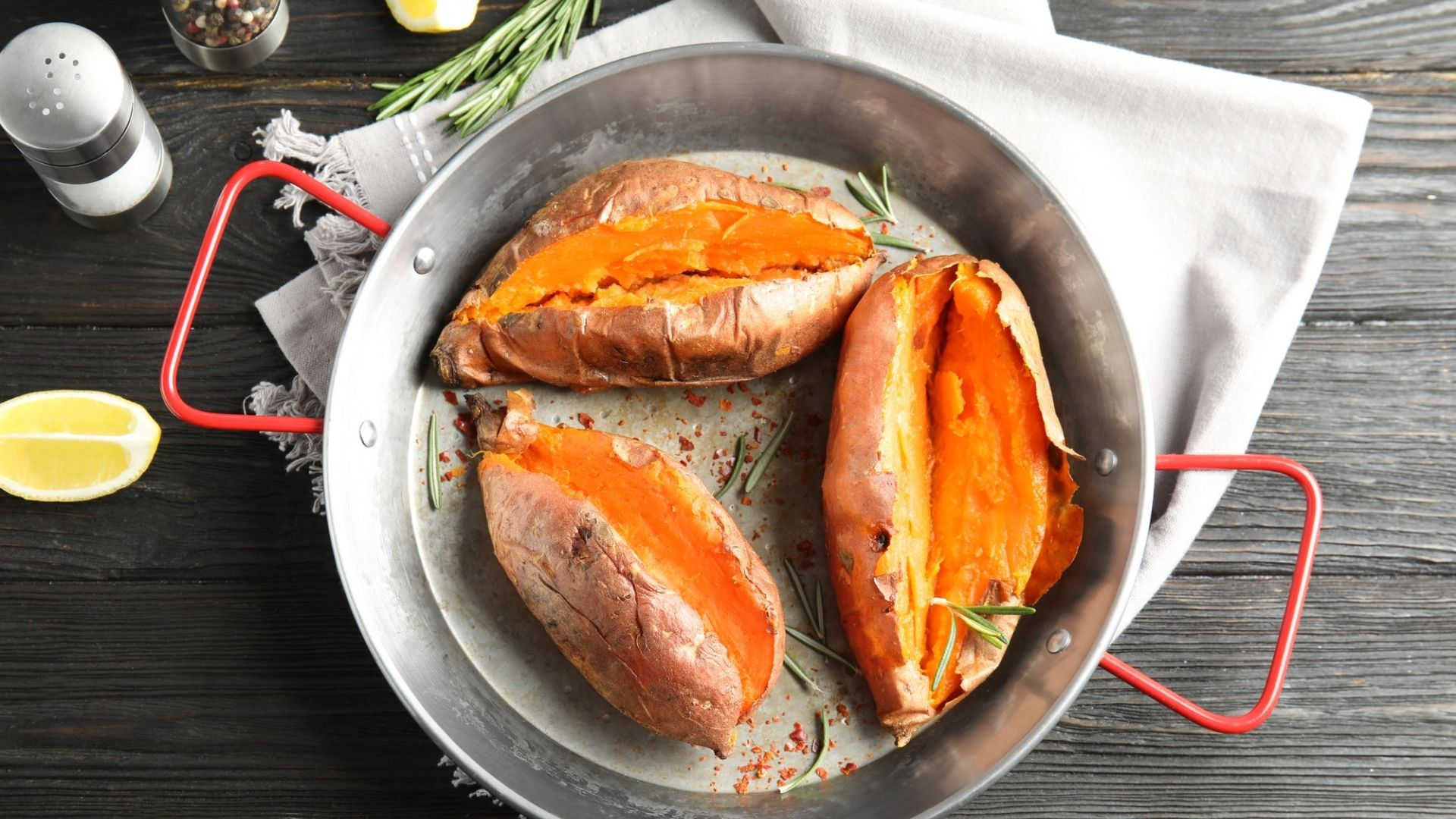 Sweet Potatoes Baked in a Toaster Oven
