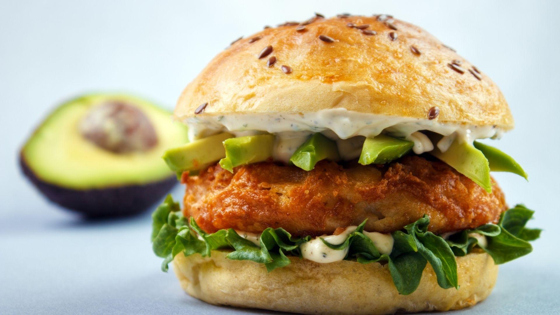 Shrimp Avocado Burger