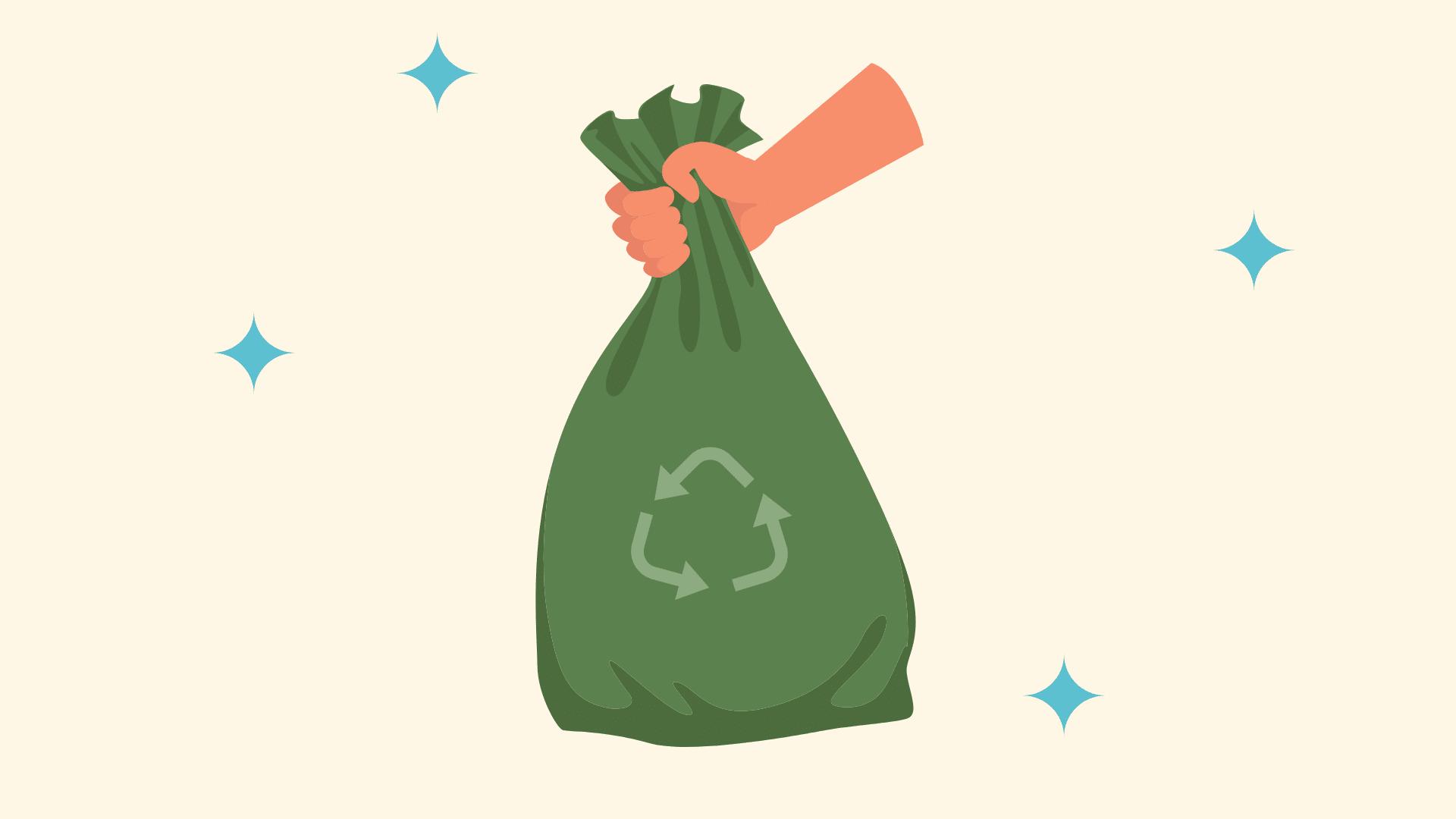 Biodegradeable vs compostable trash bag featured image