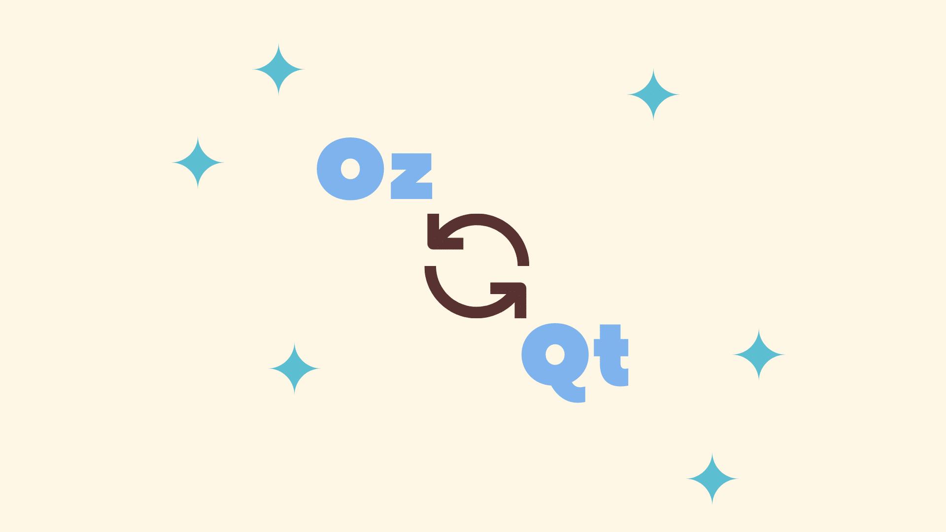 Ounces (Oz) to Quarts (Qt) Conversion